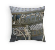 Table and chair Throw Pillow