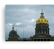 Iowa State Capital Domes Canvas Print