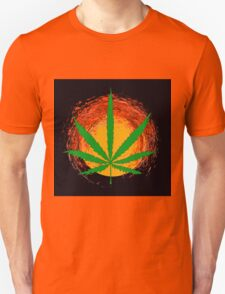 Marijuana Leaf and the Sun Unisex T-Shirt