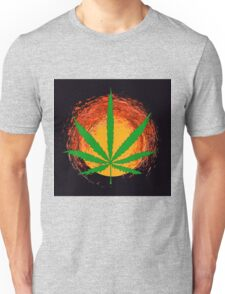 Marijuana Leaf and the Sun Unisex T-Shirt