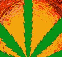 Marijuana Leaf and the Sun Sticker