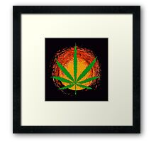 Marijuana Leaf and the Sun Framed Print