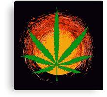 Marijuana Leaf and the Sun Canvas Print