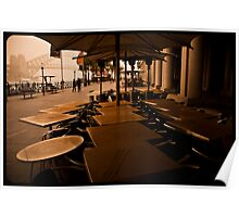 Sydney Dust storm - Dusty tables by the harbour Poster