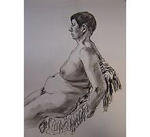 Sitting nude Photographic Print