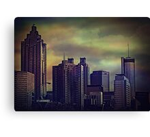the colors of the darkening sky Canvas Print