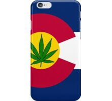 Smartphone Case - State Flag of Colorado - Cannabis Leaf 7 iPhone Case/Skin