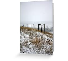 October Snow...Disappearing Mountains Greeting Card