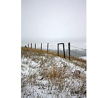October Snow...Disappearing Mountains Photographic Print