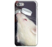 Albino Ferret with Treat iPhone Case/Skin