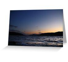 Loch Ness Sunset Greeting Card