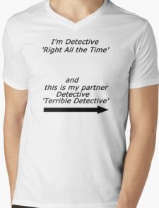 Brooklyn Nine Nine - Detective Terrible Detective Quote Mens V-Neck T-Shirt