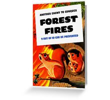 Another Enemy To Conquer Forest Fires -- WWII Greeting Card