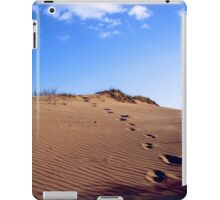 Walking through the sand dunes iPad Case/Skin