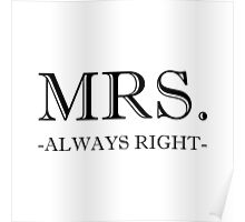 Mrs Always Right Poster