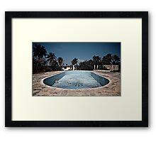 Deserted pool Framed Print
