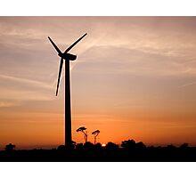 Turbine sunset! Photographic Print