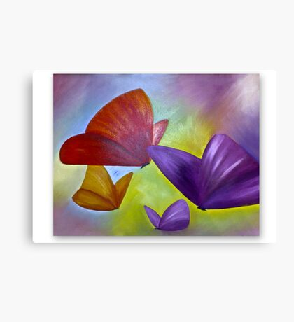 ABSTRACT, BUTTERFLIES,OIL Canvas Print