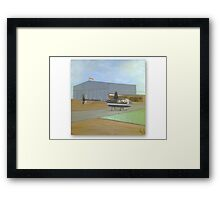 ROBINSON R44 PAINTING, OIL Framed Print