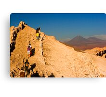 Moon Valley climbers Canvas Print