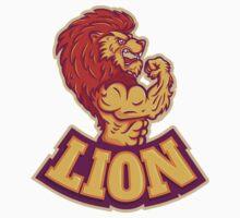 Lion bodybuilder Kids Tee