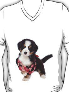 Bern Shepherd puppy and beads T-Shirt