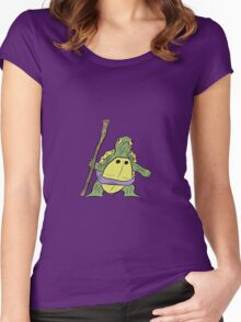 Hatchling Ordinary Ninja Turtles - Don Women's Fitted Scoop T-Shirt