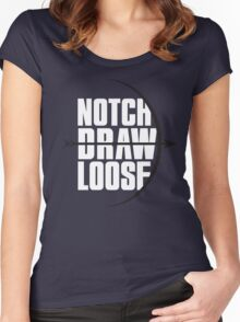 Notch! Draw! LOOSE! Women's Fitted Scoop T-Shirt