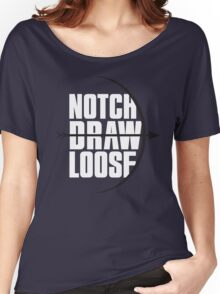 Notch! Draw! LOOSE! Women's Relaxed Fit T-Shirt
