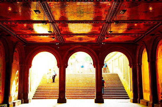 Bethesda Terrace - Central Park, New York City by Jeff Blanchard