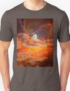 Nebula Moon Rising T-Shirt