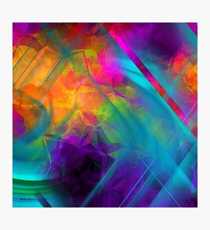 The Color Of My Love Live-Abstract  Art + Products Design  Photographic Print