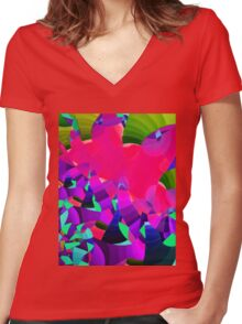 Shella's Beach 2.0 Women's Fitted V-Neck T-Shirt
