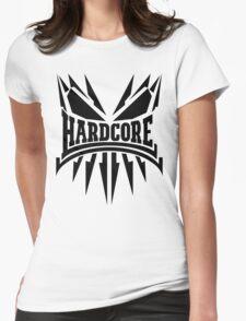 Hardcore TShirt - Black Womens Fitted T-Shirt