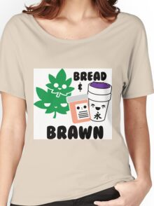Bread & Brawn Kawaii Drugs Weed Pills Lean Funny Japanese Brawn & Bread Original Women's Relaxed Fit T-Shirt