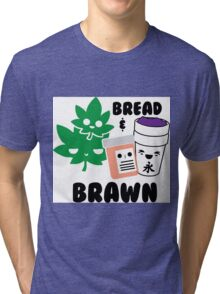 Bread & Brawn Kawaii Drugs Weed Pills Lean Funny Japanese Brawn & Bread Original Tri-blend T-Shirt