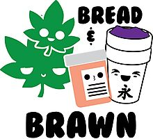 Bread & Brawn Kawaii Drugs Weed Pills Lean Funny Japanese Brawn & Bread Original Photographic Print