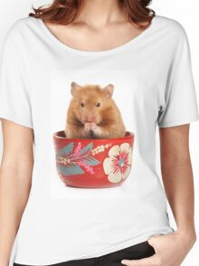 Funny red-haired hamster Women's Relaxed Fit T-Shirt