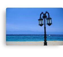 Lamp-post at Beach Colonnade by Red Sea (Egypt)  Canvas Print