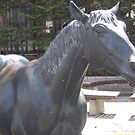 Horse Statue in Towada Japan by icesrun