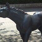 Horse Statue in Towada Aomori Japan by icesrun