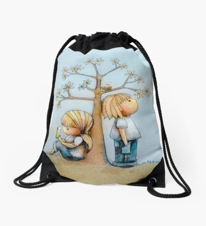 stop and smell the flowers Drawstring Bag