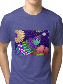 Spring Night in Mo's Garden Tri-blend T-Shirt