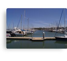 Manly harbour yacht club Canvas Print