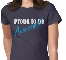 Proud to be Awesome! in blue Womens Fitted T-Shirt