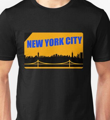 New York City Skyline Subway Card Unisex T-Shirt