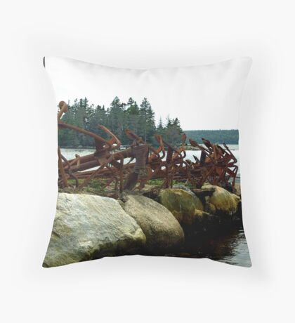 Anchors Ashore Throw Pillow