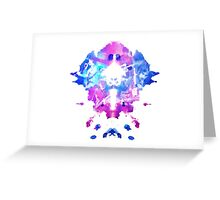 Watchmakers Ink Blot Greeting Card