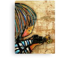 smile baby macro photography Canvas Print