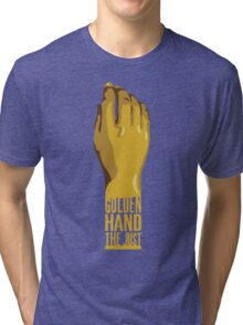 Golden Hand the Just Tri-blend T-Shirt